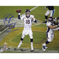 PEYTON MANNING Autographed SB 50 Champs 16 x 20 Photograph STEINER