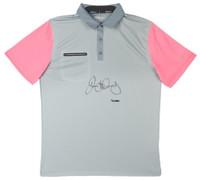 RORY McILROY Autographed Grey & Pink Nike Polo UDA LE 25