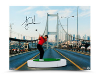 "TIGER WOODS AUTOGRAPHED ""THE BRIDGE"" 16 X 20 UDA LE 100"
