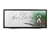 "JOHN ELWAY AUTOGRAPHED ""THE SHOW"" 46 X 20 UDA"
