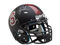 TIGER WOODS AUTOGRAPHED BLACK STANFORD AUTHENTIC HELMET UDA