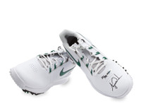 TIGER WOODS AUTOGRAPHED NIKE TW14 GOLF SHOES - WHITE & GREEN UDA LE 25