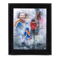 "TIGER WOODS & WAYNE GRETZKY AUTOGRAPHED ""RAREFIED AIR"" 16 X 20 FRAMED UDA LE 100"