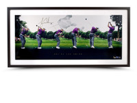 TIGER WOODS AUTOGRAPHED ART OF THE SWING PANORAMIC PICTURE UDA LE 250