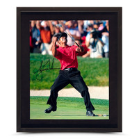 TIGER WOODS AUTOGRAPHED US OPEN CHAMP PICTURE 16X20–FRAMED UDA