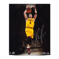 KEVIN LOVE Autographed Two-Handed Slam Photo UDA