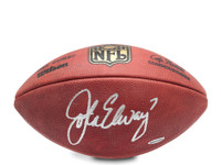 JOHN ELWAY AUTOGRAPHED AUTHENTIC WILSON FOOTBALL UDA