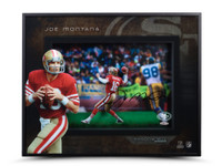 "JOE MONTANA AUTOGRAPHED ""PROLIFIC PASSER"" SHADOW BOX UDA"