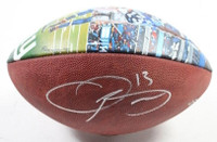 "ODELL BECKHAM JR. Autographed Custom Painted ""The Catch"" Football STEINER LE 13"