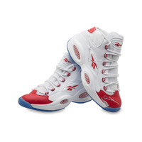 ALLEN IVERSON Autographed Reebok Question Mid Shoes with Red Toe UDA LE 30
