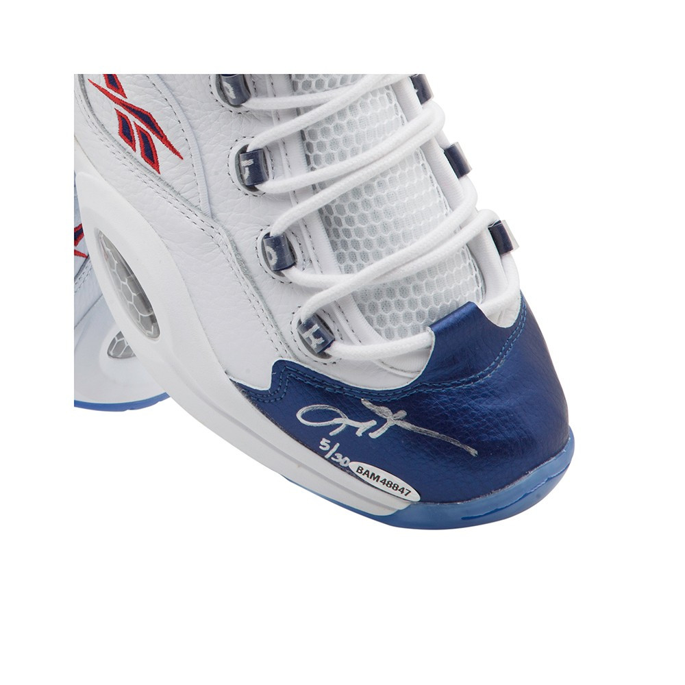 reebok question mid blue toe. reebok question mid shoes with blue toe uda le 30. image 1 · 2