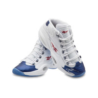 ALLEN IVERSON Autographed Reebok Question Mid Shoes With Blue Toe UDA LE 30
