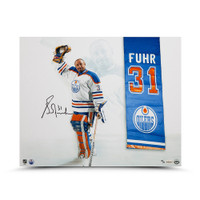 "GRANT FUHR Autographed ""Banner Night"" 16 x 20 Photo UDA LE 31"