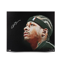 ALLEN IVERSON Autographed Up Close & Personal 20 x 24 Canvas UDA LE 30