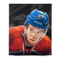 CONNOR MCDAVID AUTOGRAPHED UP CLOSE & PERSONAL 20 X 24 CANVAS UDA