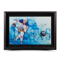 "CONNOR MCDAVID AUTOGRAPHED ""COMMANDING"" BREAKING THROUGH UDA"