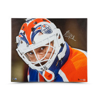 GRANT FUHR Autographed Up Close & Personal 20 x 24 Canvas UDA