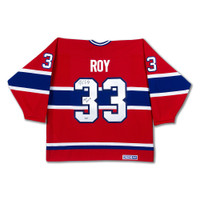 PATRICK ROY Autographed & Inscribed Authentic Heroes of Hockey Red Montreal Canadiens Jersey UDA