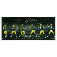 BRETT FAVRE Autographed Art of the Pass 36 x 15 UDA LE 74