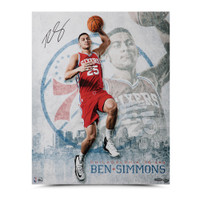"BEN SIMMONS AUTOGRAPHED ""ALL SYSTEMS GO"" 16 X 20 UDA"