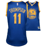 KLAY THOMPSON Golden State Warriors Autographed Blue Swingman Jersey FANATICS