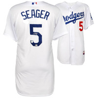 COREY SEAGER Los Angeles Dodgers Autographed White Authentic Jersey FANATICS