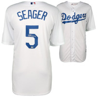 COREY SEAGER Los Angeles Dodgers Autographed Majestic White Replica Jersey with 2016 NL Roy Inscription FANATICS