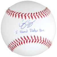 COREY SEAGER Los Angeles Dodgers Autographed Baseball with I Bleed Dodger Blue Inscription FANATICS