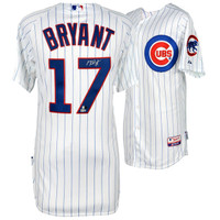 KRIS BRYANT Chicago Cubs Autographed White Authentic Jersey FANATICS