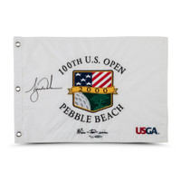"TIGER WOODS Autographed 2000 US Open ""Wire-to-Wire"" Inscribed Flag UDA LE 500"