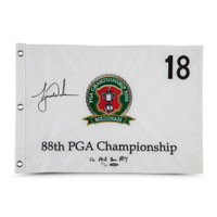 TIGER WOODS Autographed & Embroidered 2006 PGA Championship Pin Flag UDA LE 500