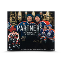 "WAYNE GRETZKY and PAUL COFFEY Autographed ""PARTNERS"" 20 x 24 Photo 20 UDA"