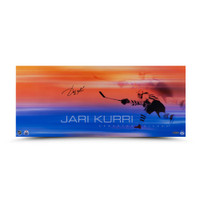 "JARI KURRI Autographed ""19 Playoff Goals"" 26 x 11 Photo UDA"