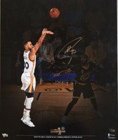 STEPHEN CURRY Autographed 2017 NBA Finals 20 x 24 Photograph FANATICS LE 30