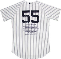 HIDEKI MATSUI Autographed Authentic NY Yankees Stat Jersey STEINER LE 10