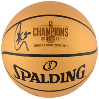 STEPHEN CURRY Autographed 2017 NBA Champions Spalding Basketball FANATICS