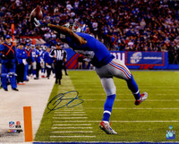 "ODELL BECKHAM Jr. Hand Signed Giants ""The Catch"" 16x20 Photo STEINER"