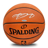 LEBRON JAMES Autographed Official NBA Game Authentic Basketball UDA