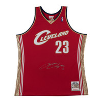 LEBRON JAMES Autographed '03-'04 Cleveland Cavaliers Wine Jersey UDA