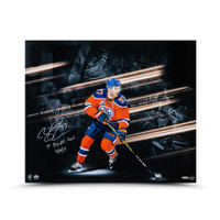"CONNOR MCDAVID Autographed & Inscribed ""Playoff Collage "" 20 x 24 UDA"