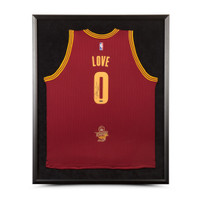 KEVIN LOVE Autographed & Framed Cleveland Cavaliers Swingman Maroon Jersey With 2016 NBA Finals Championship Logo UDA