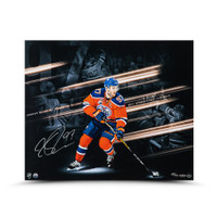 "CONNOR MCDAVID Autographed ""Playoff Collage"" 20 x 24 UDA LE 97"