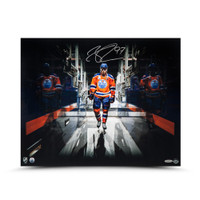 "CONNOR MCDAVID Autographed ""Tunnel Vision"" 16 X 20 UDA"
