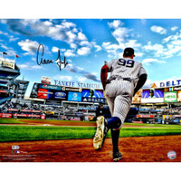 "AARON JUDGE Autographed 16"" x 20"" ""Running Out of Dugout"" Photograph FANATICS"
