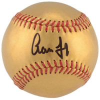 AARON JUDGE Autographed New York Yankees 24 Karat Gold Baseball FANATICS