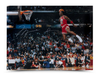 MICHAEL JORDAN Autographed 1988 Slam Dunk Photo 30 x 40 UDA