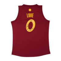 KEVIN LOVE Autographed & Inscribed Cleveland Cavaliers Swingman Christmas Day 2016 Jersey UDA LE 25