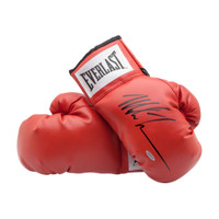 MIKE TYSON Autographed Red Everlast Boxing Gloves UDA