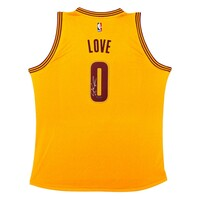 KEVIN LOVE Autographed Swingman Cleveland Cavaliers Gold Alternate Jersey UDA