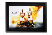 "LEBRON JAMES AND DWYANE WADE Autographed Framed 16x24 Photo ""Next Level"" UDA LE 25"
